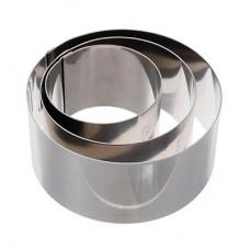 Форма металлическая кольцо д 16  см высота 10 см