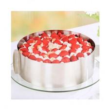 Раздвижное кольцо для выпечки д 16-30 см в 10 см
