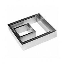 Форма квадрат 14*14*6 см металл