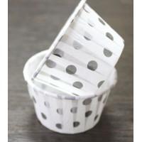 Форма бумажная для выпечки д 50 в 40 черный горох