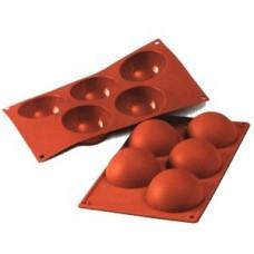 Форма силиконовая, ПОЛУСФЕРА, 5 фигур d80хh40