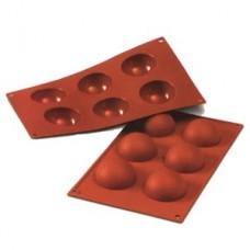 Форма силиконовая, ПОЛУСФЕРА, 6 фигур d70 h35