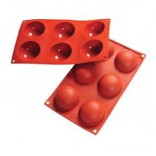 Форма силиконовая, ПОЛУСФЕРА, 6 фигур d60 h30