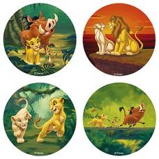 """Вафельные пластины с рисунком, """"Король Лев"""", диаметр 21см"""