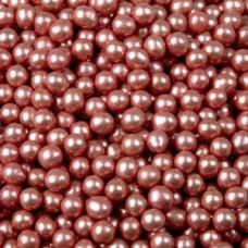 Шарики сахар.красные 5 мм.металл, 100гр