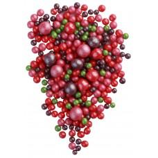 Жемчуг зеленый, красный, малиновый, сирень микс, 100 гр
