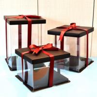 Коробка для торта 24*24*24 Черная