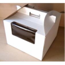 Коробка для торта с ручками и окном, 3-4 кг