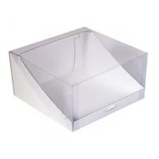 Коробка для торта 225*225*100 с прозрачной крышкой