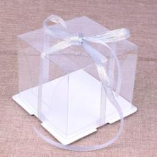 Коробка для торта 21*21*24 Прозрачная
