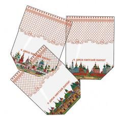 """Пакет цветной для кулича, d135хh320мм """"Кремль"""", 10 шт"""