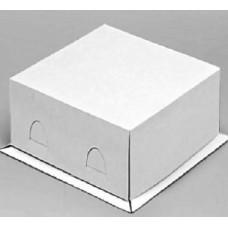 """Коробка для торта """"Хром-Эрзац"""" белая, до 3 кг"""